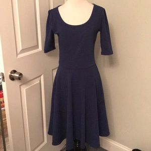 LuLaRoe Dresses - Lularoe navy Nicole medium EUC - like new